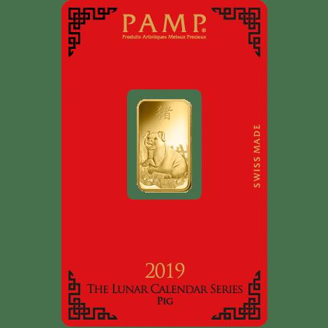 Lunar Pig Gold Rectangular Ingot - 5g