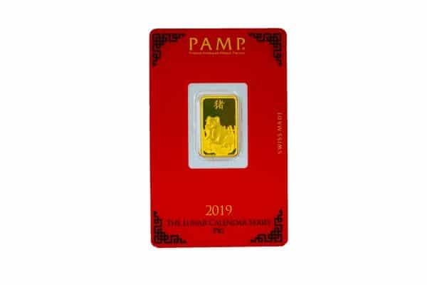 Lunar Pig Gold Rectangular Ingot - 5g buy gold malaysia