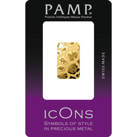 icon leopard 999.9 gold with packaging
