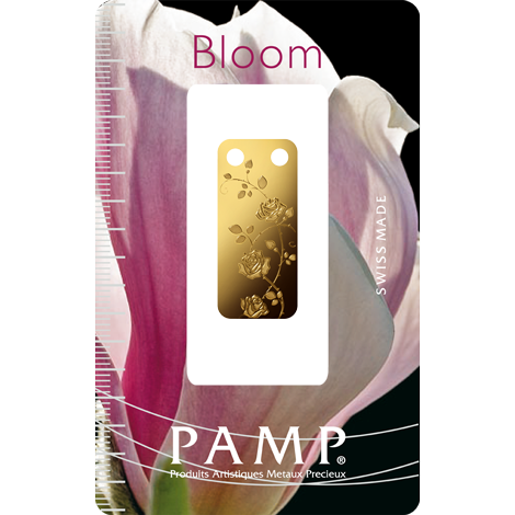bloom rose 999.9 gold with packaging