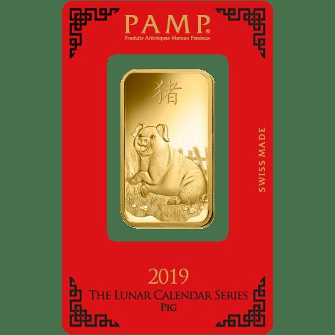 Pamp lunar gold pig 10z