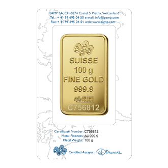 Rosa Gold Bar 100 Grams