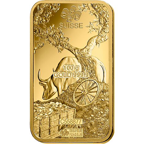 PAMP Year Of The Ox 2021 100 Grams Gold Bar