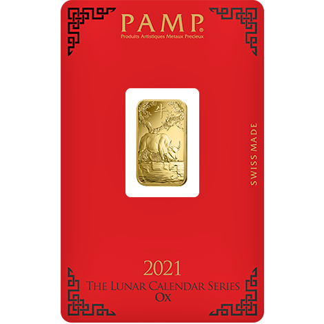 PAMP Year Of The Ox 2021 5 Grams Gold Bar